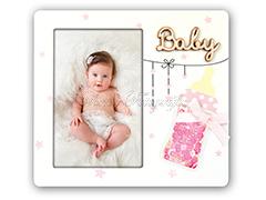 Giovanni kék és rózsaszín babás képkeret