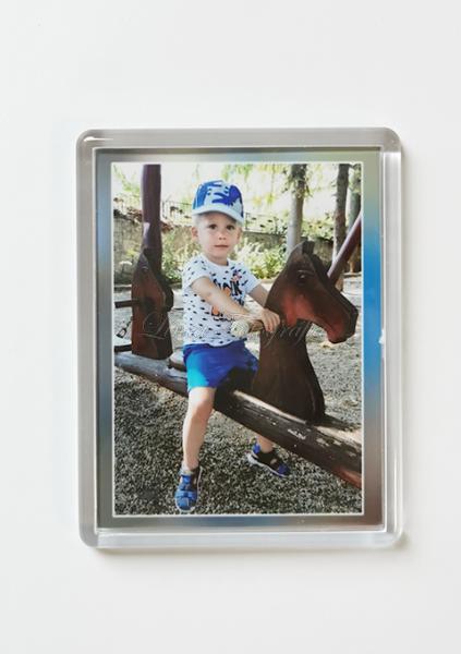 Hűtő mágnes - Mini portréval
