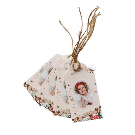 Karácsonyi fényképes ajándékkísérő kártya