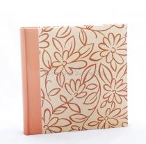Fotóalbum - Floral mintás - narancs