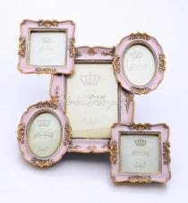 Montázs képkeret - antik rózsaszín