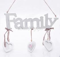 Family - Szívecskés montázsképkeret