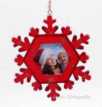 Karácsonyi hópehely saját fotóval - piros