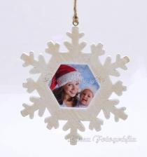 Karácsonyi hópehely saját fotóval - natúr