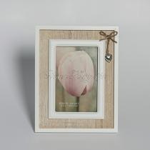 Fém szívecskés képkeret, vintage, álló képkeret