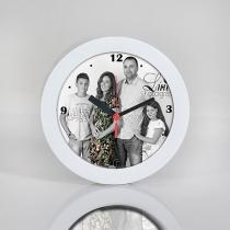 Fali óra - fehér- saját képpel