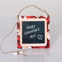 Happy Valentine's day - Táblakép fából - krétával