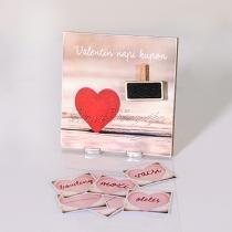 Valentin napi kupon - táblakép